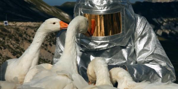 Agnes Meyer-Brandis – SPACE SUIT TESTING, Astronaut Training Method No. XIII, Videostill, Moon Goose Colony 2011 @ Agnes Meyer-Brandis, VG-Bild Kunst 2016