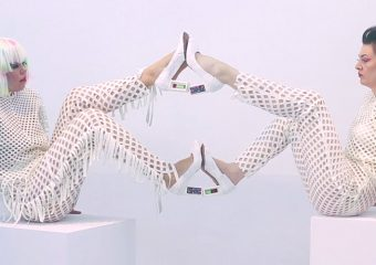FOOTwerk (computer enhanced footwear performance), a short film by Alexandra Murray-Leslie, featuring Melissa Logan, 2017, courtesy of NTU, Centre for Contemporary Art, Singapore.