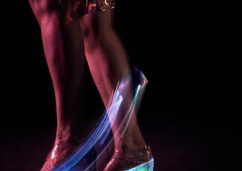 Alexandra Murray-Leslie. Computer Enhanced Footwear, prototype 3 by Alexandra Murray-Leslie, 2017. Photo by wolf-dieter Grabner.